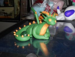 Green and Gold Dragon by Saphira001