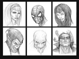 Spidey and support characters by Gopez