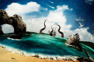 Attack Of The Sea Monster by Darkslayer092