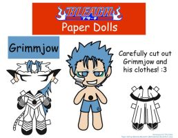 Grimmjow Paper Doll by Malindachan