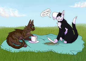 Tea time by Douthna