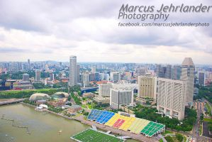 Singapore from above by marcusjehrlander