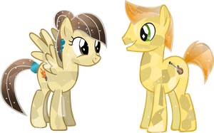 Crystal Wildfire (aka sibsy) and Mando Pony by Vector-Brony