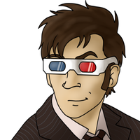 3D Glasses - 10th Doctor by Rebel-Raptor
