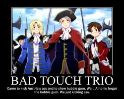 Hetalia Bad Touch Trio Motivational Poster by Mitchie98