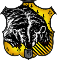 Hufflepuff Crest by witcheewoman
