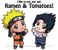 Ramen and Tomatoes by QuikSilver04