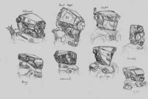 Helmets by fish333