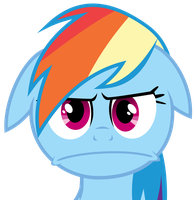 Rainbow Dash getting angry (S2 E8) [svg vector] by LeonTheOriginal