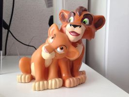 Lion King ~ Applause Kiara and Kovu Money Bank by LittleRolox3