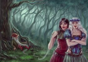 Rose and Snow White by Girre