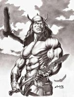 CONAN THE BARBARIAN ,Art Reproduction by carlosbragaART80