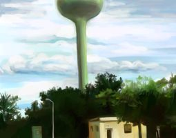 Speedpaint - water tower by speedtribes