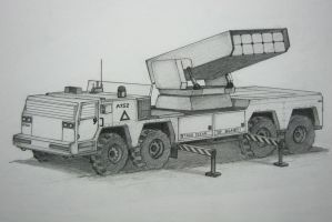 Mobile Missile Launcher Vehicle (Concept Sketch) by ronincloud