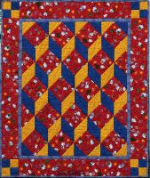 Tumbling Blocks Cot Quilt by suedollinQuilts