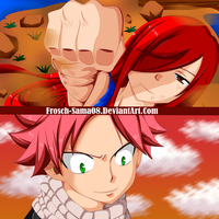 Fairy Tail 459 -Erza Scarlet And Natsu Dragneel - by Frosch-Sama08