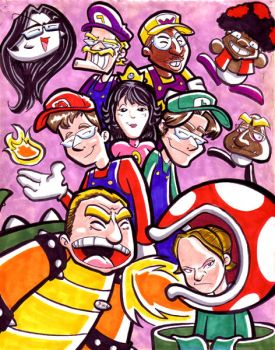 Co-Workers as the Mario Cast by yooki42