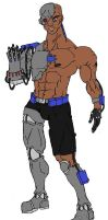 Teen Titans Cyborg Colored by Axel-Knight