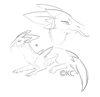Sketch Creature #1: CLOSED by Kuro-Creations