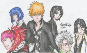 Shinigamis in Bleach by DevilishMirajane