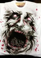 Walking Dead Inspired Zombie Shirt by roomeg