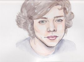 Harry Styles Watercolour by PoorMedea