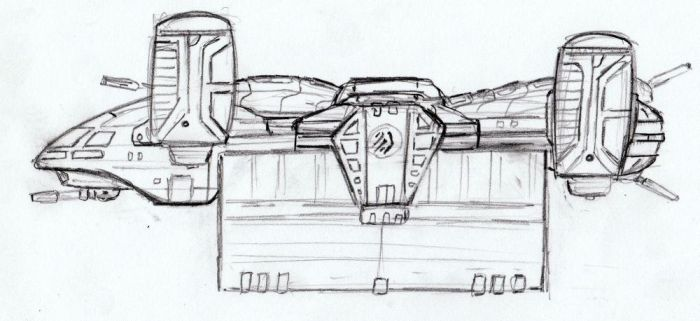 Gerik-Ro Freighter WIP by TheMightyGorga