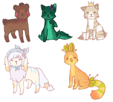 Wiggly Chibis by BearBerries