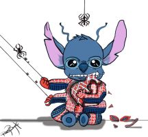 Stitch as Spider-Man (Crossover pt.7) by peonyroyale