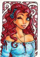 ACEO 104: The Mane Event: Party Hair by Forunth