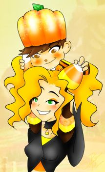 The Candycorn cousins by BatzyDRae