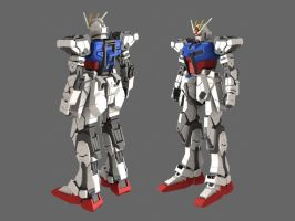 Gundam Strike Legs Progress by heretik66