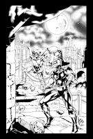 Commission Dr Doom vs Nova by TheInkPages