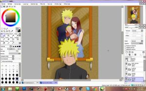 .:naruto and family:..:W.I.P:. by CrazyLZ