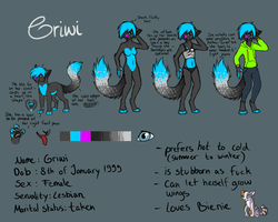 Griwi Reference Sheet 2014 by Griwi