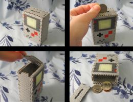Custom Gameboy Fuse Bead Coin Bank by emmadreamstar
