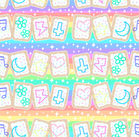 Kawaii Poptart Pattern by MissJediflip