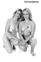 Mother and Daughter studio nude by thefamilynude