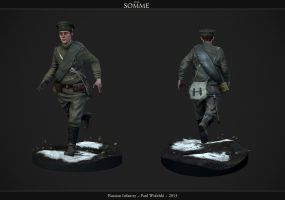 Russian WW1 Infantry by jimficker