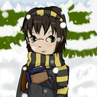 Snow Time Hufflepuff by MsCappuccino