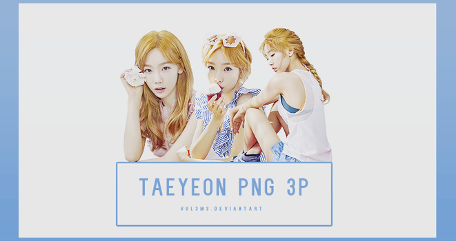 TaeYeon BANILA CO 3P PNG by vul3m3