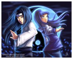Neji and Hinata by Lokklyn