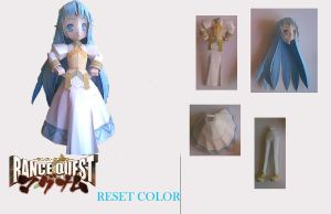 lysete kalar  rance quest paper model by aerizu