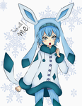 Human Glaceon. by LauriiMentaNya