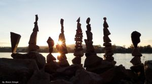 Stones balance silhouette in Hungary by tamaskanya by tom-tom1969