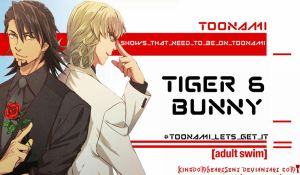 Tiger and Bunny Should Be on Toonami by KingdomHeartsENT