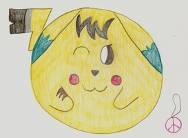 Cally the Balled Pikachu by iKYLE