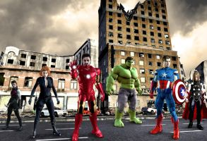 Avengers 3D by ric3do