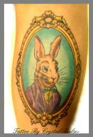 Mr. Bunny in a frame tattoo by IAteAllMyPaste