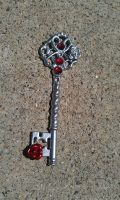 Winter Rose Fantasy Key by ArtByStarlaMoore